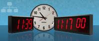 Synkronisert Store Digital Wall Clocks
